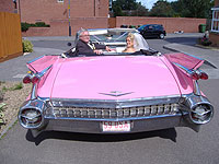 Wedding limousines and cadillac s 1959 pink cadillac limousine and