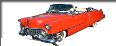 1954 Red and White Cadillac Convertible