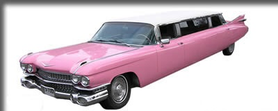 1959 Pink and White Cadillac Super Stretched Limousine